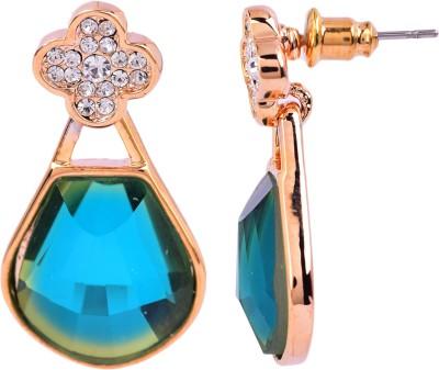Maisha Royal blue and Gold. Alloy Drop Earring