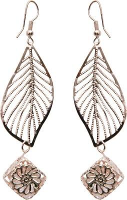 Grand Jewels Leaf Alloy Huggie Earring