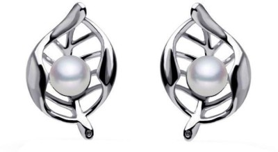Roma Brothers Leafprl2 Pearl Alloy Stud Earring