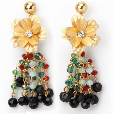 Aarya 24kt Gold Foil Silicone Drop Earring