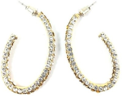 Ammvi Happening Stone embellished for Women Alloy Hoop Earring