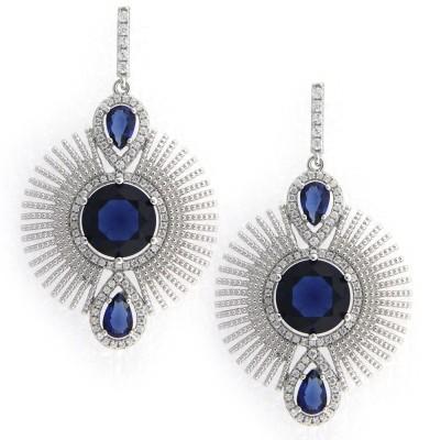 Treta Charming Ethenic Look Sterling Silver Drop Earring