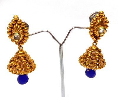 Womaniya South Indian gold beauty Alloy Jhumki Earring