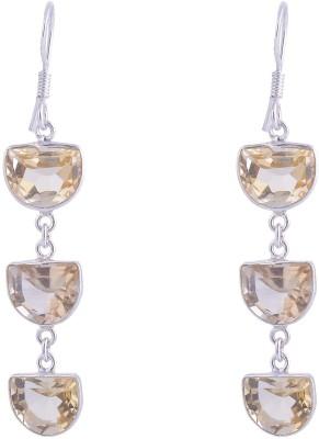 Jewel Paradise Citrine Sterling Silver Dangle Earring