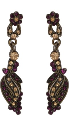 Maisha Dark Purple victorian Alloy Drop Earring
