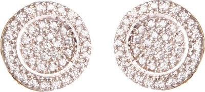 Abhijewels American Diamond Studded Gold Plated Alloy Stud Earring