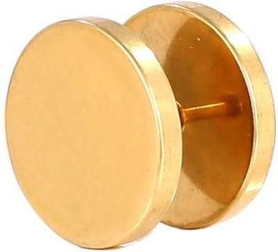Little Goa Golden Circle Metal Stud Body Piercing - 12 mm-1 Metal Stud Earring