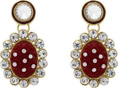 Ishaani Love Forever Cubic Zirconia Brass, Plastic Drop Earring