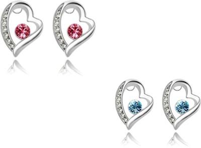 University Trendz UNIV_E028 Crystal Alloy Earring Set