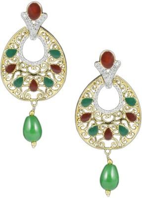 Paradise Sparkle Jhumki Brass, Copper Drop Earring