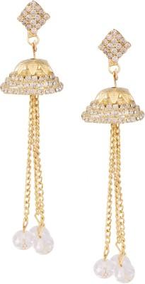 Castle Street Gold Tassel Alloy Jhumki Earring