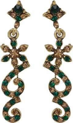 Maisha Dark Green with Gold Alloy Drop Earring