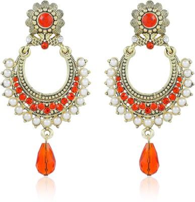 BoBell Rasrava Jhula Indian Dangler Copper Chandbali Earring