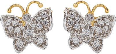 Vanity Roots Lucky Charm Cubic Zirconia Alloy Stud Earring