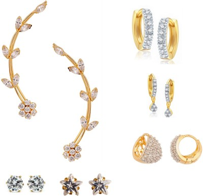 Archi Collection Just Like Diamond Cubic Zirconia Alloy Earring Set at flipkart