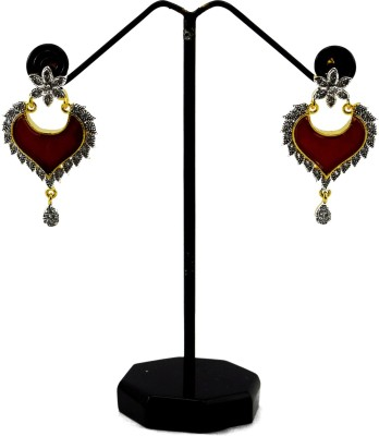Bharat Sales Good Looking And Latest Fashion In Alloy Cubic Zirconia Alloy Earring Set