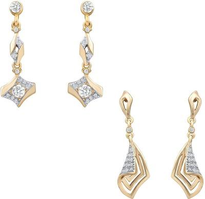 Oviya Gorgeous Crystal Alloy Earring Set