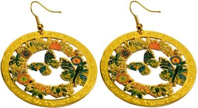 Krishna Mart A Pair Of Indian Brass Metal Butterfly Earrings Brass Dangle Earring