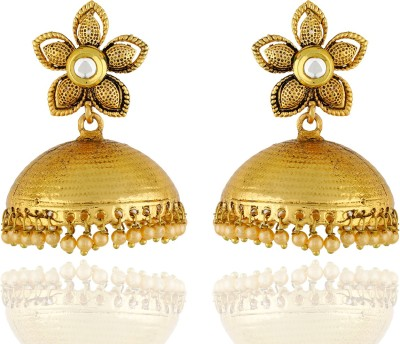 One Stop Fashion Elegant and Stylish Gold Plated Alloy Jhumka Earring Alloy Jhumki Earring