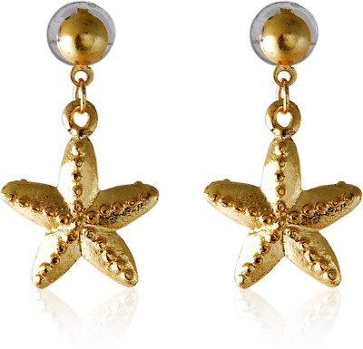 Crunchy Fashion Charming Star Golden Alloy Dangle Earring