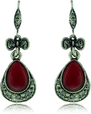 Camy Red Antique Casual Alloy Drop Earring