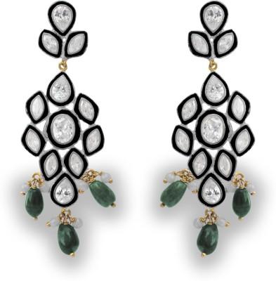 SuvidhaArts Royal Fashion Cubic Zirconia Metal Drop Earring