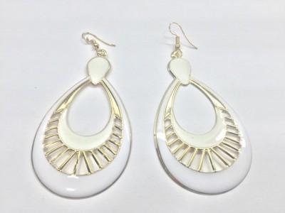 Arkina Diamonds Egyptian white Brass Dangle Earring