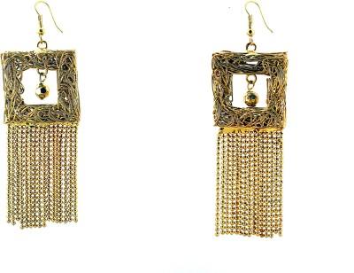 Zidox Golden spark Brass Dangle Earring