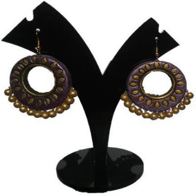DEET handmade pleasent color Terracotta Dangle Earring