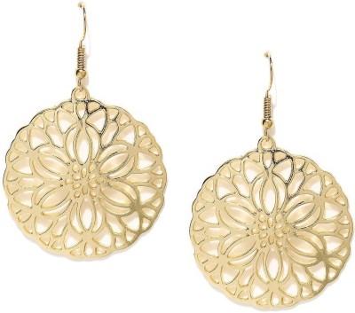 ToniQ Floral Filigree Metal Dangle Earring