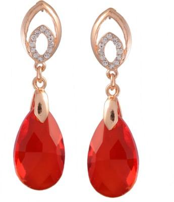 Ark Beautiful Wine Red Crystal Alloy Drop Earring