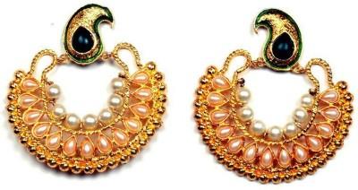 Vaibhav Fashion vlxe0003 Pearl Brass Chandbali Earring