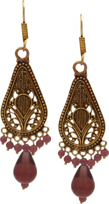 SB Fashions copper jhumki with beads Brass Dangle Earring