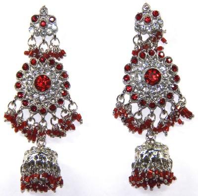 Fusion Jewels Sparkling Stones Jewellery Metal Jhumki Earring