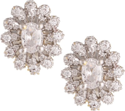Fashionaya Shine Galaxy Cubic Zirconia Alloy Stud Earring