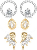 Big Tree BIG Tree Gold CZ Earring Combo for Women Copper Stud Earring