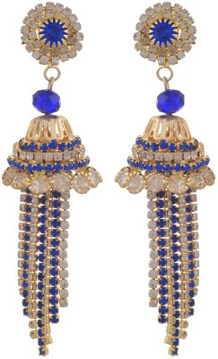Blacksmith Turkish Blue Crystal Metal Jhumki Earring