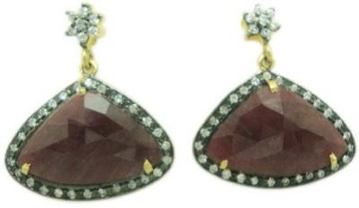 The Gems Gallery TGG-EAR-8555049851162-Multicolor Silver Drop Earring