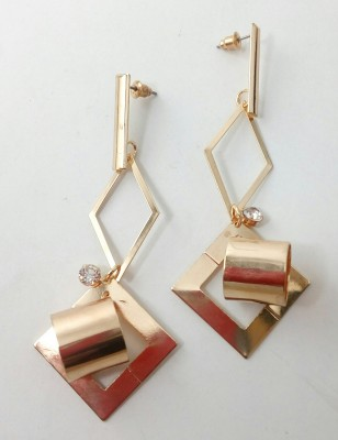 Gennext square-stud Alloy Dangle Earring