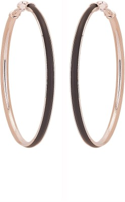 ADWITIYA COLLECTION Bright, Princes, Rose, Delight Copper Hoop Earring