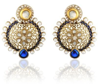 Zaveri Pearls Diamond Alloy Dangle Earring