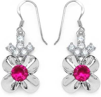 Johareez Spring Cubic Zirconia Sterling Silver Dangle Earring