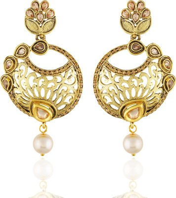 One Stop Fashion Designer Gold Plated alloy Long Earrings Alloy Drop Earring