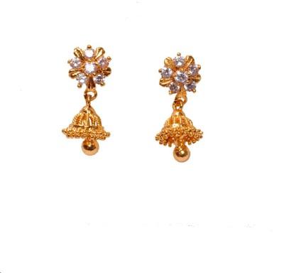 PFJ PFJ3039-EARRING Cubic Zirconia Brass, Copper Drop Earring