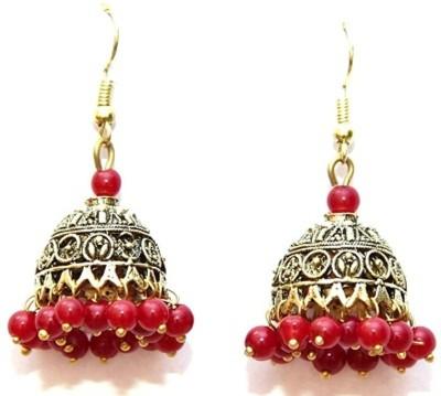 Jodhpuriyas GGP-373(C) Brass Chandelier Earring