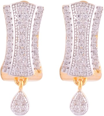 Affinity Jewellers Affinity U Shaped Designer Bali With Drop With CZ stones Cubic Zirconia Alloy Drop Earring