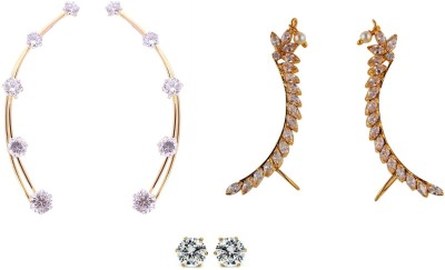 Archi Collection Style Diva Cubic Zirconia Alloy Earring Set