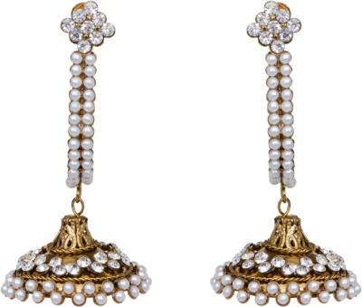 Mitthi Jewels Party Wear Golden Traditional Type Designer Earrings Alloy Drop Earring