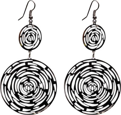 Gracent Multi Circle Black Hangings Alloy Drop Earring