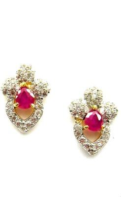 E-Designs TOP76GJ155-345 Cubic Zirconia Brass Stud Earring